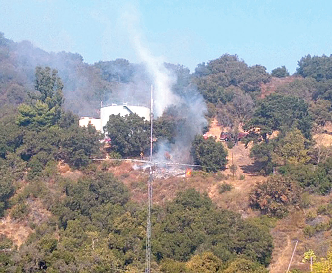 Brushfire at Topanga School Road Extinguished Quickly
