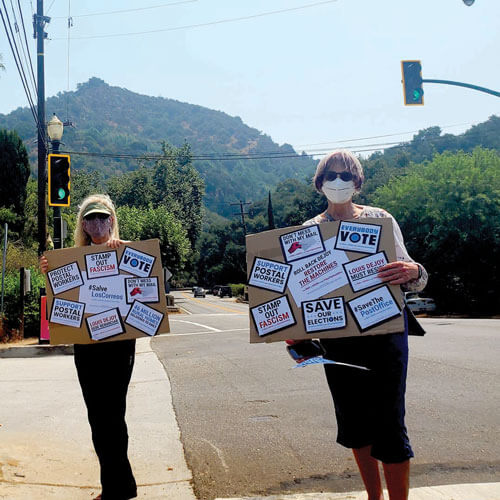 National Day of Protest and Civil Outrage at Topanga Post Office