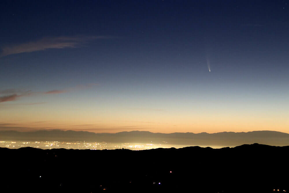 Neowise Comet at Dawn