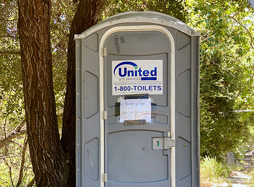 Topanga Gets a Portable Toilet