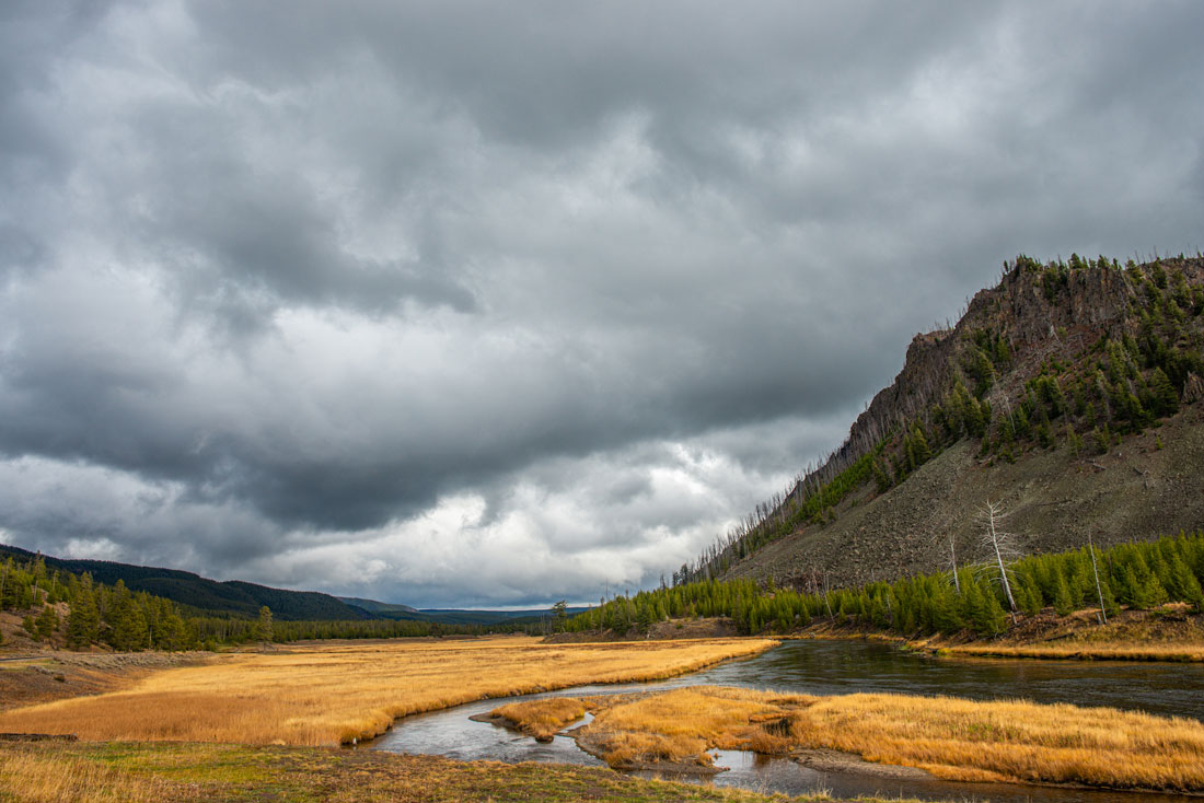 "-The Madison River and ""National Park"" Mountain in Western Yellowstone National Park-"