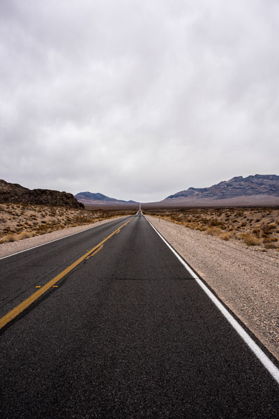 -The road between Death Valley and Pahrump, Nevada-