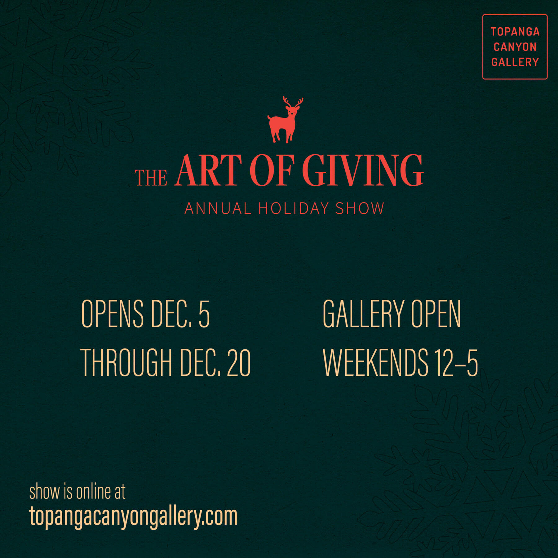 Topanga Canyon Gallery Holiday Show
